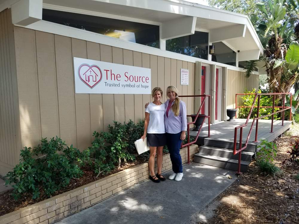 Encouraging the homeless with simple stretches and posture tips at The Source, Vero Beach
